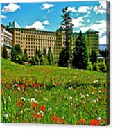 Chateau Lake Louise In Banff Np-alberta Acrylic Print