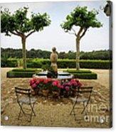 Chateau Malherbe Fountain Acrylic Print by Lainie Wrightson