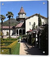 Chateau St. Jean Winery 5d22199 Acrylic Print by Wingsdomain Art and Photography