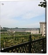 Chateau Vilandry And Garden View Acrylic Print