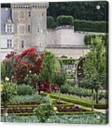 Chateau Villandry And The Cabbage Garden  Acrylic Print