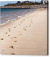 Chatham Beach Stroll Acrylic Print