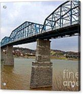 Chattanooga Longest Walking Bridge Acrylic Print by Kathy  White