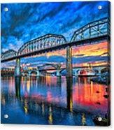 Chattanooga Sunset 3 Acrylic Print