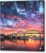 Chattanooga Sunset 4 Acrylic Print by Steven Llorca