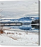 Chatuge Dam Winter Vista Acrylic Print
