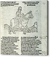 Chaucer: Prologue Acrylic Print