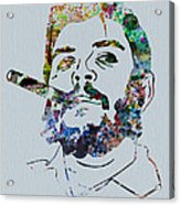 Che Watercolor Acrylic Print