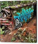 Cheakamus River Train Derailment Acrylic Print