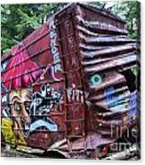 Cheakamus Box Car Graffiti Acrylic Print
