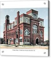 Cheboygan Michigan - Opera House And City Hall - Huron Street - 1905 Acrylic Print
