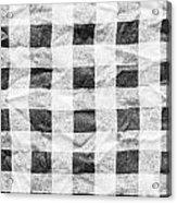 Checked Cloth Acrylic Print