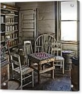 Checker Game Setting In A Back Room No. 3105 Acrylic Print