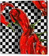 Checker Peppers Acrylic Print