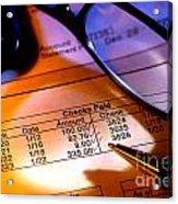 Checking Account Statement Acrylic Print