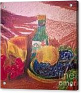 Chees And Bluberries Acrylic Print