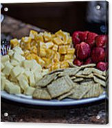 Cheese And Strawberries Acrylic Print