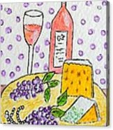 Cheese And Wine Acrylic Print