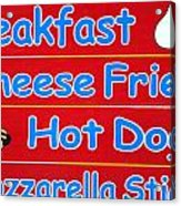 Cheese Fries Acrylic Print by Skip Willits