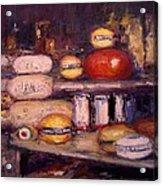 Cheese Shop Window Acrylic Print by R W Goetting