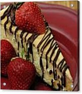 Cheesecake With Strawberries Acrylic Print