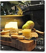 Cheeses And Fruit Acrylic Print