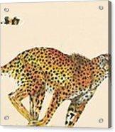 Cheetah Painting Acrylic Print