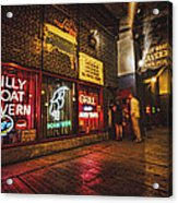 Cheezborger Cheezborger At Billy Goat Tavern Acrylic Print