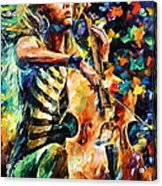 Chelo Player Acrylic Print