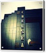 Chelsea Art Deco Blue Acrylic Print