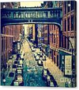 Chelsea Street As Seen From The High Line Park. Acrylic Print