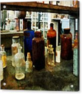 Chemistry - Assorted Chemicals In Bottles Acrylic Print
