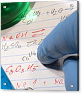 Chemistry Formulas In Science Research Lab Acrylic Print