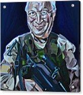 Cheneys Got A Gun Acrylic Print by Stuart Black