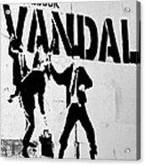 Chequebook Vandal Acrylic Print