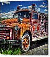 Cherokee Fire Truck Acrylic Print