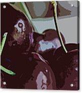 Cherries Abstract Acrylic Print
