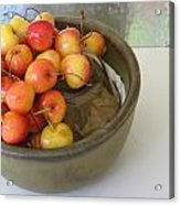 Cherries And Glass Filler Acrylic Print
