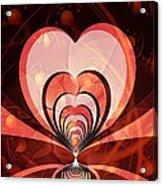 Cherries And Hearts Acrylic Print