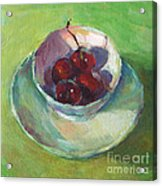 Cherries In A Cup #2 Acrylic Print