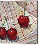 Cherry Talk By Irina Sztukowski Acrylic Print