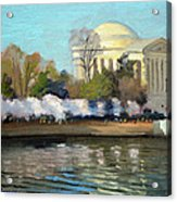Cherry Blossoms Morning - Washington DC Acrylic Print