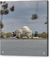 Cherry Blossoms With Jefferson Memorial - Washington Dc - 011318 Acrylic Print