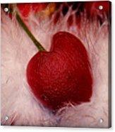 Cherry Heart Acrylic Print