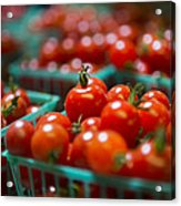 Cherry Tomatoes Acrylic Print by Caitlyn  Grasso