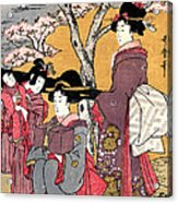 Cherry-viewing At Gotenyama Acrylic Print