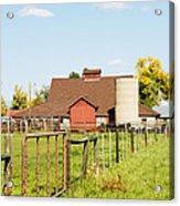 Cherryvale Barn Boulder Acrylic Print
