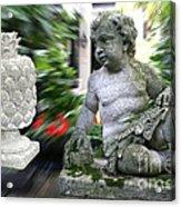 Cherub Levitating Pineapple #2 Acrylic Print