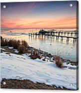Chesapeake Bay Freeze Acrylic Print
