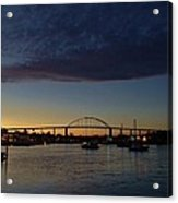 Chesapeake City Twilight Acrylic Print